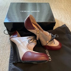 Giorgio Armani saddle wedges